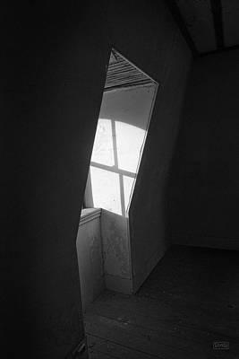 Sunlit Door Photograph - Empty Room II Bw by David Gordon