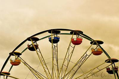 Ferris Wheel Photograph - Empty Seats by Bob Orsillo