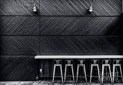 Stools And Counter Photograph - Empty Seats by James Aiken