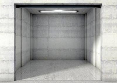 Nothing Digital Art - Empty Single Garage by Allan Swart