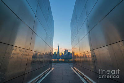 911 Memorial Photograph - Empty Sky Memorial Sunrise by Michael Ver Sprill