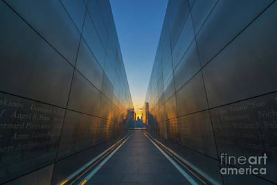 911 Memorial Photograph - Empty Sky Sun Ring  by Michael Ver Sprill