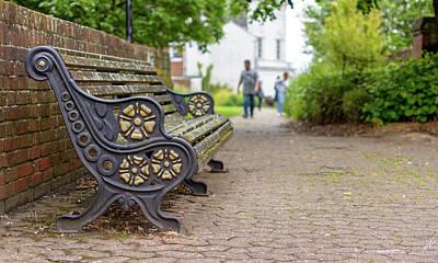 Photograph - Empty Southampton Bench by Jacek Wojnarowski