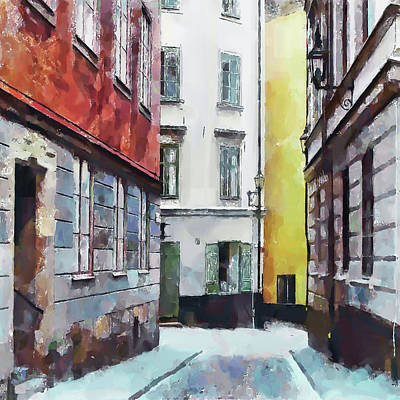 Digital Art - Empty Street 2 by Yury Malkov