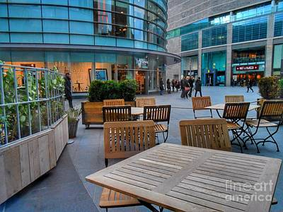 Photograph - Empty Tables 2 by Joan-Violet Stretch