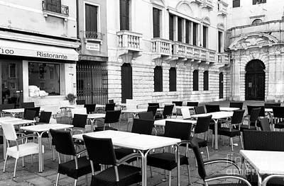 Photograph - Empty Tables In Venezia by John Rizzuto