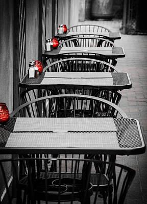 Pasta Al Dente - Empty Tables by Joshua Spiegler