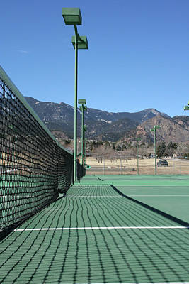 Photograph - Empty Tennis Courts by Ric Bascobert