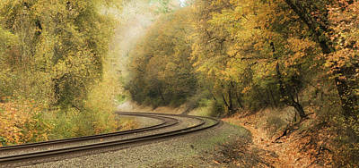 Photograph - Empty Tracks by Angie Vogel