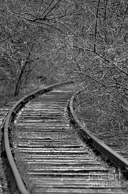 Art Print featuring the photograph Empty Tracks by Juls Adams