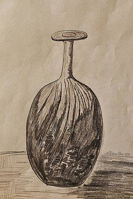 Work Place Drawing - Empty Vase by Felicia Tica