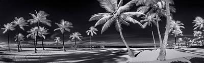 Infra-red Photograph - Empty Waikiki Beach by Sean Davey
