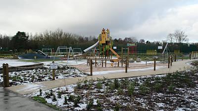 Empty Winter Playground Art Print