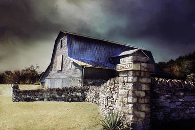 Photograph - Empyrean Estate Stone Wall by Julie Hamilton