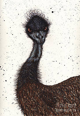 Emu Drawing - Emu Attitude by Jay Kuhne