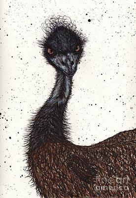 Emu Drawing - Emu Attitude by Jay Kuhne