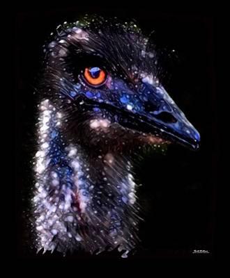 Emu Digital Art - Emu Color Splash by Scott Wallace