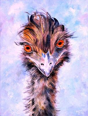 Emu Eyes Art Print