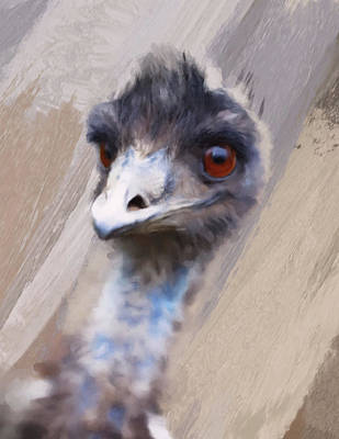 Digital Art - Emu by Gillian Dernie