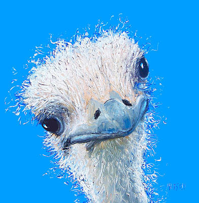 Emu Painting Print by Jan Matson