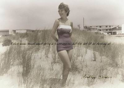 Emulating Marilyn Quote Art Print by JAMART Photography