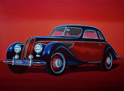 Acryl Painting - Emw Bmw 1951 Painting by Paul Meijering