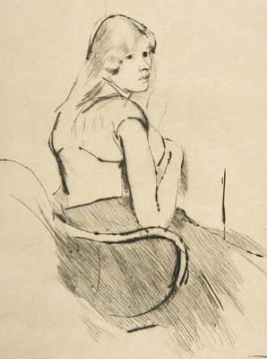 Relief - En Deshabille by Mary Cassatt