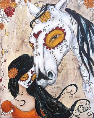 En El Valle De Sombre De Muerte Art Print by Allison Weeks Thoms