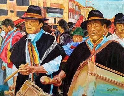 En Marcha Art Print by Jorge Diez