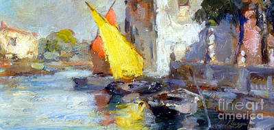 Painting - En Plein Air In Venice by Rosario Piazza