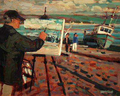 Boat Painting - En Plein Aire by Brian Simons