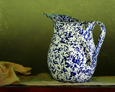 Photograph - Enamelware - Pitcher by Nikolyn McDonald
