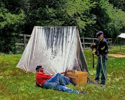 Digital Art - Encampment by Cliff Wilson