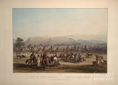 Volume Painting - Encampment Of The Piekann Indians by Celestial Images