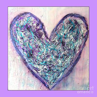 Photograph - Encaustic Heart by Marlene Rose Besso