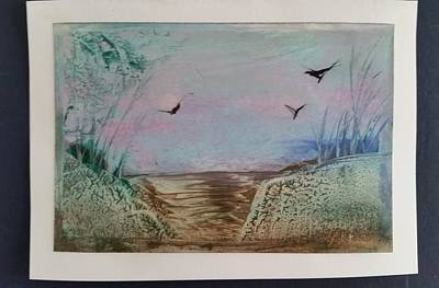 Mixed Media - Encaustic Landscape by Lorraine Bradford