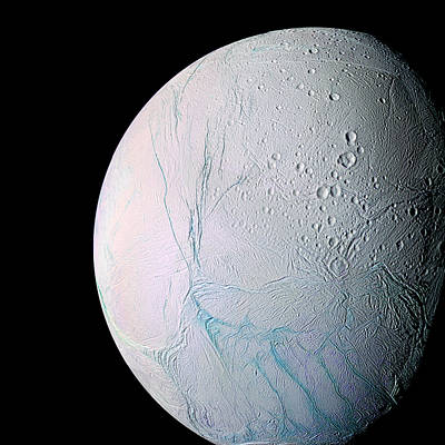 Photograph - Enceladus Saturn Moon by Weston Westmoreland