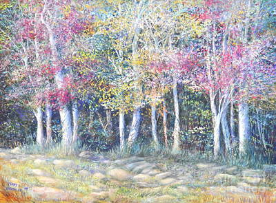 Enchanced Tree Pageant Art Print by Penny Neimiller