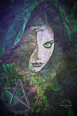 Digital Art - Enchanted by Absinthe Art By Michelle LeAnn Scott