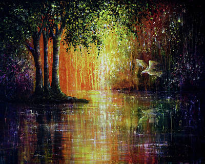 Painting - Enchanted Forest by Ann Marie Bone