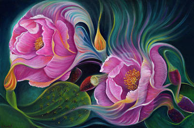 Painting - Enchanted Blossoms by Claudia Goodell