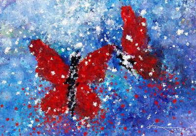 Digital Art - Enchanted Butterflies by Kume Bryant