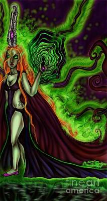 Enchanted By An Emerald Flame Art Print by Coriander Shea