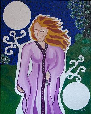 Amulets Painting - Enchanted by Carolyn Cable