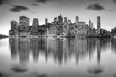 Black White Photograph - Enchanted City by Az Jackson