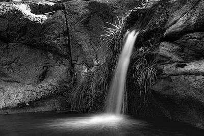 Photograph - Enchanted Falls In Black And White  by Saija Lehtonen
