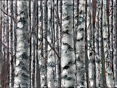 Painting - Enchanted Forest -black And White by Lena  Owens OLena Art