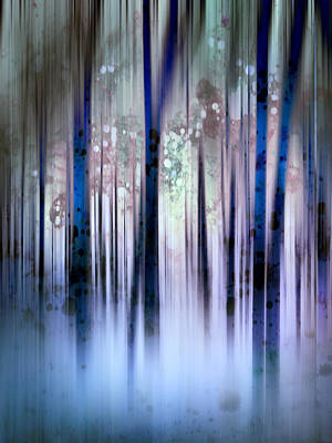 Digital Art - Enchanted Forest In Blue by Ann Powell