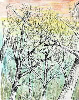 Painting - Enchanted Forest Music by Joe Hagarty