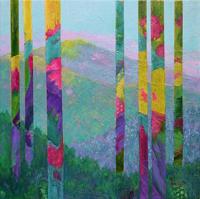 Painting - Enchanted Forest by Nancy Jolley